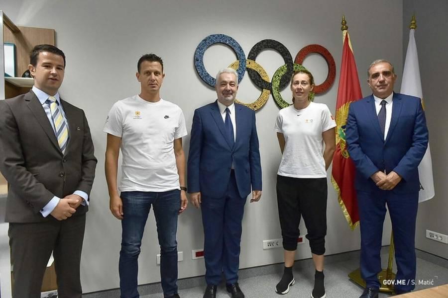 Premijer Crne Gore i ministar ekonomskog razvoja u posjeti COK-u